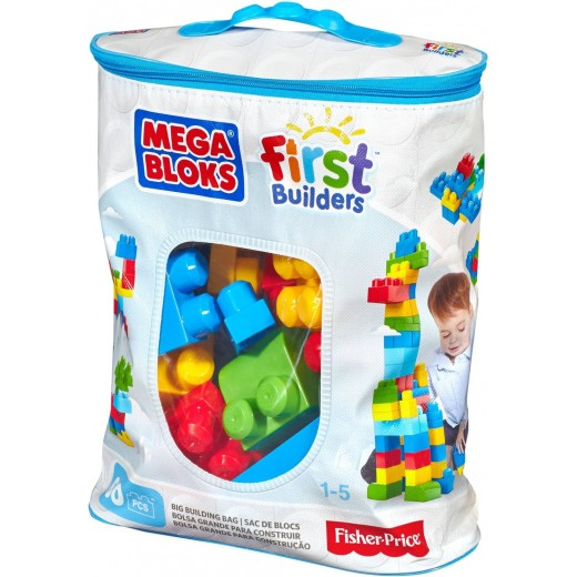 Mega Bloks-First Builders Big Building Bag, 60-Piece (Classic)