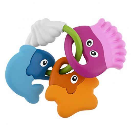 عضاضة خشخشة السمك للأطفال من شيكو