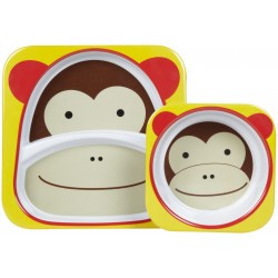Skip Hop Zoo Melamine Plate and Bowl Set - Monkey