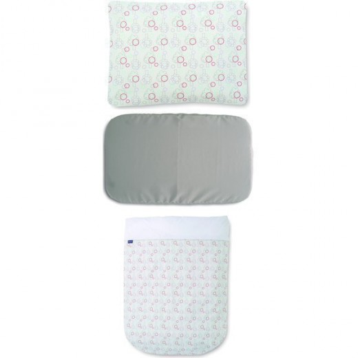 Chicco Bedding Set Next 2 Me Lullago Nature White