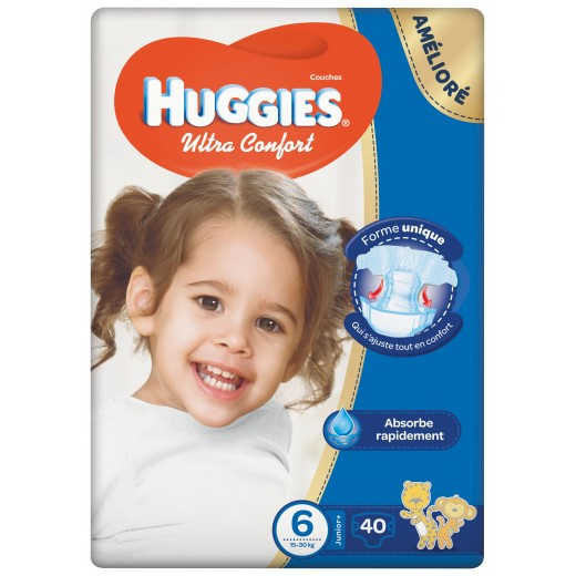 Huggies Jumbo Size (6) 15-30 kg, 40 Diapers