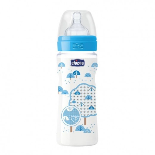 Chicco Well-Being Bottle 330Ml Fast Flow For Boy Latex