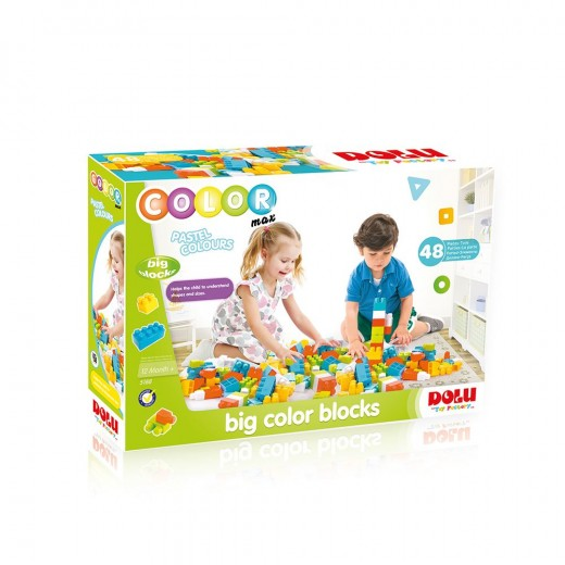 مكعبات ملونة كبيرة من دولو قطعة 48