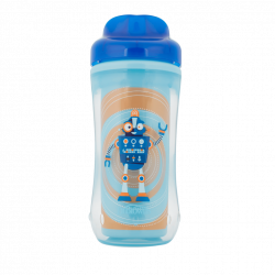 Dr. Brown's 10 oz Spoutless Insulated Cup - Blue Robot (Stage 4: 12m+)