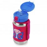 Skip Hop Zoo Stainless Steel Straw Bottle, Butterfly