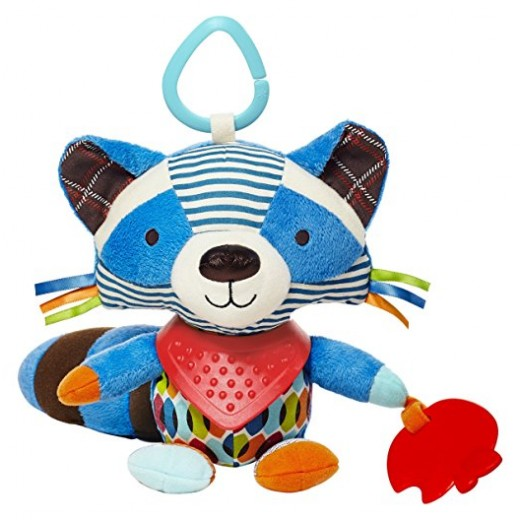 Skip Hop Bandana Buddies Soft Activity Toy, Raccoon