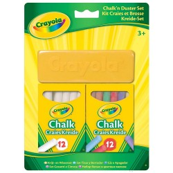 Crayola Chalk 'n' Duster Set 1*12