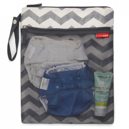 Skip Hop Grab & Go Wet / Dry Bag-Chevron