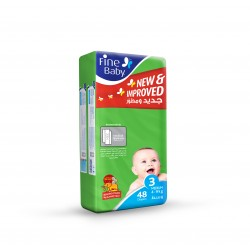 Fine Baby Super Dry - Smart Lock, Size 3 Medium, 4-9 Kg, Jumbo Pack, 48 PCS