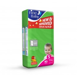 Fine Baby Super Dry - Smart Lock, Size 5 Maxi, 10-22 Kg, Jumbo Pack, 40 PCS