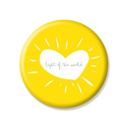 YM Sketch-Light Of The World Button Pin