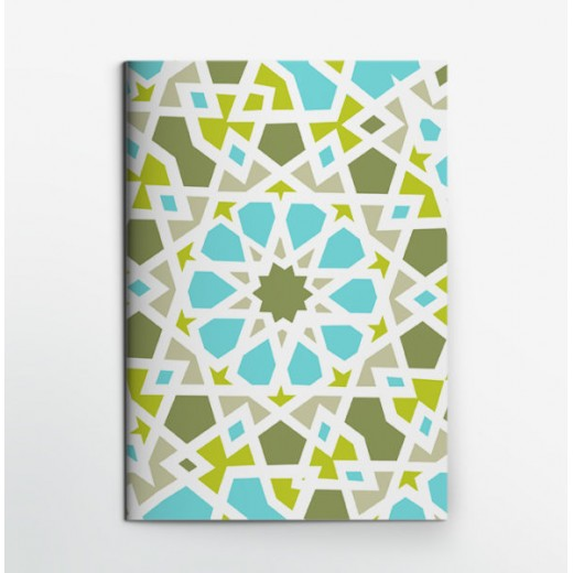 Colors & Shapes Oriental Mosaic Blue Notebook