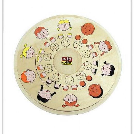 Edu Fun Circle Matching Board Emotions