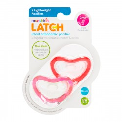 Munchkin Latch Pacifier 3+ - 2 Pack Pink/Red