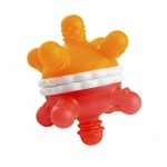 Munchkin Twisty Teether Ball (Red/Orange)