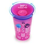 كوب للشرب  ميراكل ذو  360 درجة من مانشكين - 266 مل (اللون الزهري)