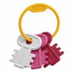 Chicco Teething Key Ring - Pink