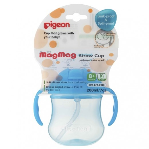 Pigeon Mag Mag Straw Cup Step3- sky blue