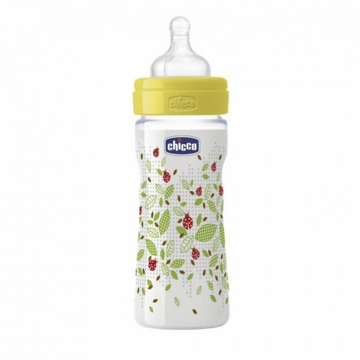 Chicco - Well-Being Medium Flow Bottle 250ml - Yellow