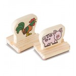 Melissa & Doug My First Wooden Stamp Set - Farm Animals