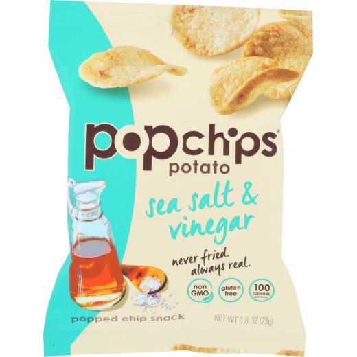 Pop Chips Gluten Free Chips Sea Salt & Vinigar Potato 23g
