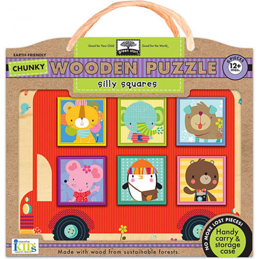 Wodden  Puzzles - Silly Squares