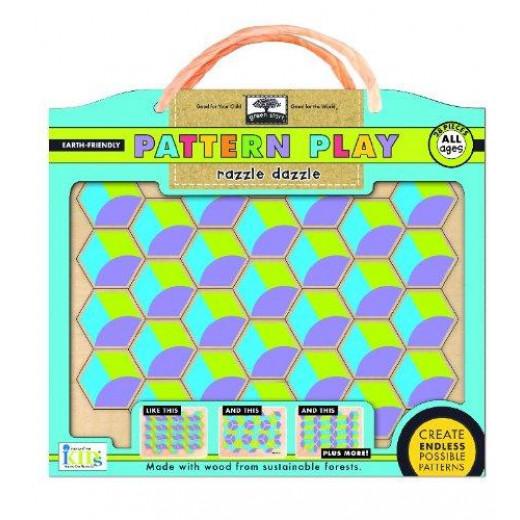 Innovative Kids Green Pattern Play Razzle Dazzle 28 Piece Puzzle