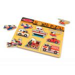 لعبة أحجية خشبية على شكل سيارات مخصصة مع تأثيرات صوتية (8 قطع) من ميليسا آند دو