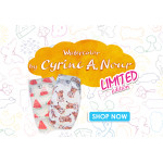 Pure Born - Organic Nappy Size 3, Cyrine Limited Edition Print, 5.5-8 Kg, 28 Nappies, Cheetah