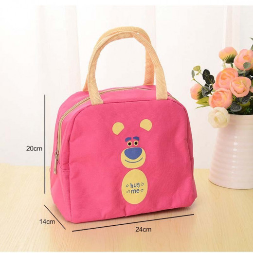 Lunch Bag For Kids - Pink Bear
