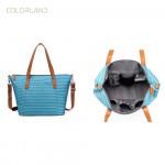 حقيبة حفاضات متعددة الوظائف للأمهات من كولورلاند أفريل - أزرق شيفرون