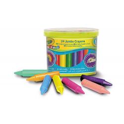 مجموعة أقلام تلوين جامبو من كرايولا ميني كيدز ، 24 قطعة