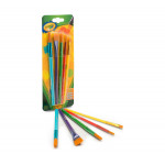 Crayola Arts & Crafts Paint  Brushes, 5 Count  5t.1X12