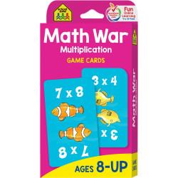 School Zone - Math War-Multiplication Cards