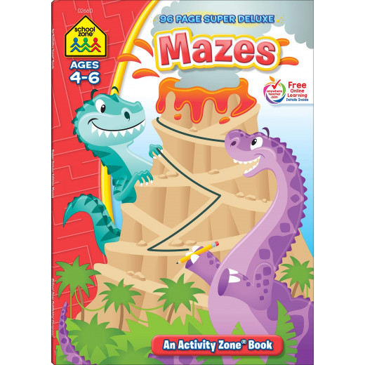 School Zone - Mazes 96 page super deluxe ages 4-6