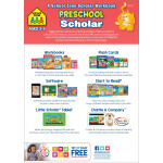 School Zone - Preschool Scholar skill areas include Ages 3-5