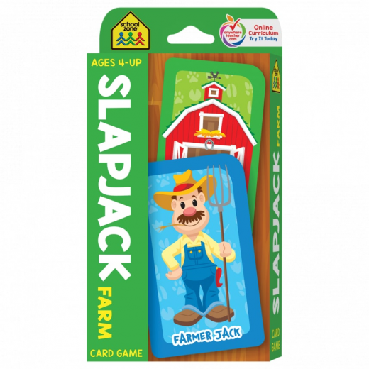 School Zone -Slapjack Farm Card Game