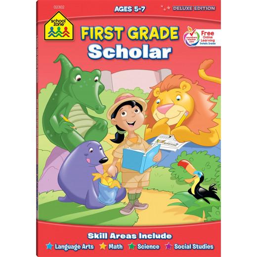 School Zone First Grade Scholar Deluxe Edition Workbook