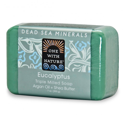 One With Nature Dead Sea Minerals Soap Eucalyptus