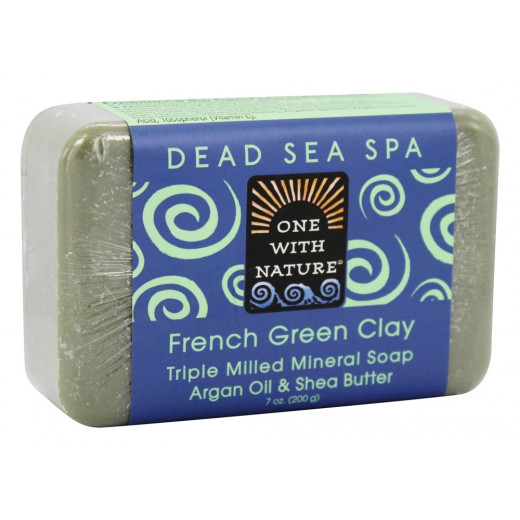One With Nature Dead Sea Spa Mineral Soap French Green Clay
