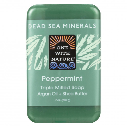 One With Nature Dead Sea Mineral Soap Peppermint
