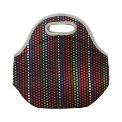 Travel Lunch bag Tote- Colorful Dots