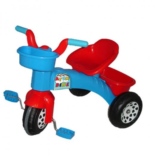دراجة بيلسان أتوم مع سلة ، أزرق وأحمر