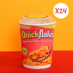 Quickflakes Sweet Corn Flakes - Box of 24 Cup