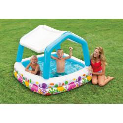 لعبة حمام سباحة مع مظلة قابلة للنفخ للاطفال من انتيكس