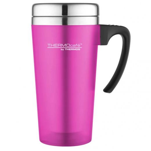 Thermos Travel Mug Pink Metal, 420ml