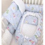 Anett Newborn Baby Bedding Set, Baby, Sky Blue to Pale Green