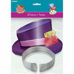 Amscan 4 Mad Hatter's Tea Party Tiaras