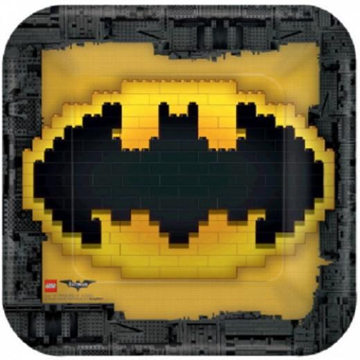 Amscan Lego Batman Square Lunch Plates, 8 Pieces