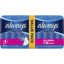 Always - Maxi Thick Long 18 Pads up to 8 Hours